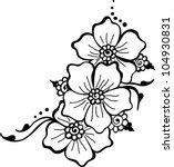 black flower vector   Shutterstock .eps vector #104930831
