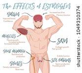 testosterone effects... | Shutterstock .eps vector #1049310374