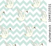 seamless pattern with white... | Shutterstock . vector #1049315531
