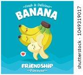 vintage banana poster design... | Shutterstock .eps vector #1049319017
