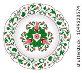 decorative porcelain plate...   Shutterstock .eps vector #1049323574