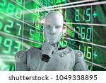 3d rendering humanoid robot... | Shutterstock . vector #1049338895