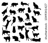 Set Vector Silhouettes Of The...