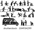 icon man hospital | Shutterstock . vector #104934299
