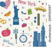 new york seamless background   Shutterstock .eps vector #104934347