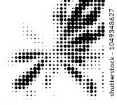 grunge halftone black and white ... | Shutterstock .eps vector #1049348627