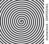 hypnotic spiral background.... | Shutterstock .eps vector #1049352461