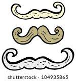 cartoon mustaches | Shutterstock . vector #104935865