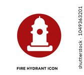 fire hydrant icon  isolated on... | Shutterstock .eps vector #1049363201