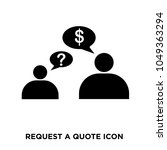 request a quote icon  isolated... | Shutterstock .eps vector #1049363294