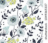 seamless pretty pattern with... | Shutterstock .eps vector #1049365337
