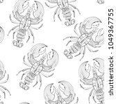 vector seamless pattern with... | Shutterstock .eps vector #1049367755