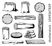 set of wood logs for forestry... | Shutterstock .eps vector #1049367839