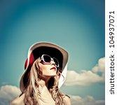 portrait of a beautiful girl in ... | Shutterstock . vector #104937071