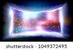 screen led vector. light board. ... | Shutterstock .eps vector #1049372495