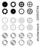 You can find the VECTOR version in my portfolio. Gears of several types, shapes and colors in a industry related collection - stock photo