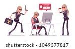 secret agent woman  lady spy of ... | Shutterstock .eps vector #1049377817