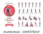 handsome elegant male office... | Shutterstock .eps vector #1049378219