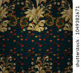 seamless vintage pattern on... | Shutterstock .eps vector #1049382671