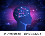 artificial intelligence ... | Shutterstock .eps vector #1049383235