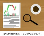 market analysis vector. market... | Shutterstock .eps vector #1049384474