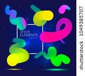 vibrant gradient design... | Shutterstock .eps vector #1049385707
