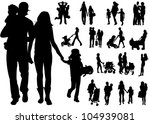 family people | Shutterstock .eps vector #104939081