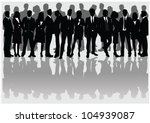 business people | Shutterstock .eps vector #104939087