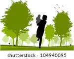 mom and daughter | Shutterstock .eps vector #104940095