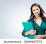 female support phone operator... | Shutterstock . vector #1049407271