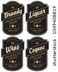 vector set of four labels for... | Shutterstock .eps vector #1049408819