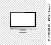 lcd monitor for computer  on... | Shutterstock .eps vector #1049411177