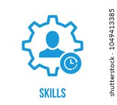 skills icon with clock sign.... | Shutterstock .eps vector #1049413385