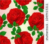 seamless texture red rose and... | Shutterstock .eps vector #1049415311