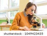 high school female student in...   Shutterstock . vector #1049423435