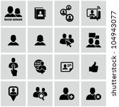 icons set for social network... | Shutterstock .eps vector #104943077