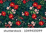 trendy seamless floral pattern. ... | Shutterstock .eps vector #1049435099