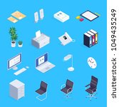 set of isometric icons of... | Shutterstock .eps vector #1049435249