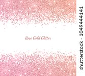 rose gold glitter with color... | Shutterstock .eps vector #1049444141