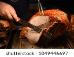 succulent roast turkey with... | Shutterstock . vector #1049446697