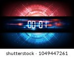 abstract futuristic technology... | Shutterstock .eps vector #1049447261