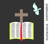 bible cross dove. cross and...   Shutterstock .eps vector #1049448845