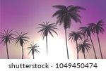 summer palm trees in sunset...   Shutterstock .eps vector #1049450474