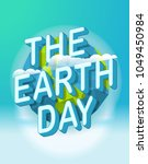 the earth day vector poster | Shutterstock .eps vector #1049450984