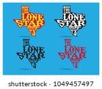 texas nickname the lone star... | Shutterstock .eps vector #1049457497