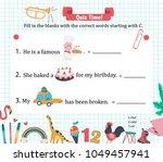 doodle a z alphabet exercise... | Shutterstock .eps vector #1049457941