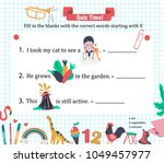 doodle a z alphabet exercise... | Shutterstock .eps vector #1049457977