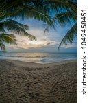exotic paradise scene of... | Shutterstock . vector #1049458451