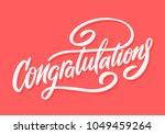 congratulations. greeting card. ...   Shutterstock .eps vector #1049459264