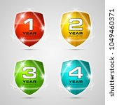 shield with guarantee one  two  ... | Shutterstock .eps vector #1049460371